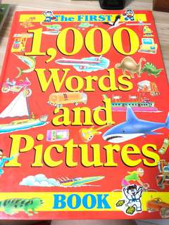 1000 words and picture book