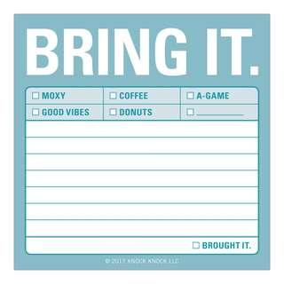 Knock Knock Sticky Notes - Bring It