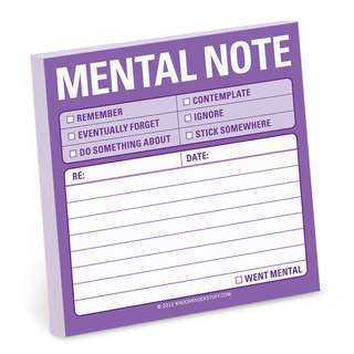 Knock Knock Sticky Notes - Mental Note