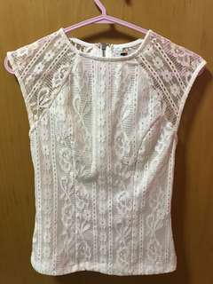 TEMT WHITE LACE TOP