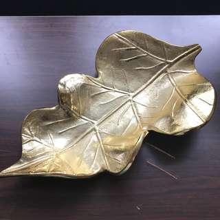 印度 高級餐具 金色 金屬 碟 一個