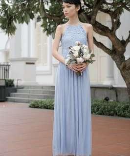 threadtheory whirlwind romance blue maxi dress
