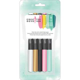 American Crafts - Creative Devotion - Markers Set (5 Pieces)