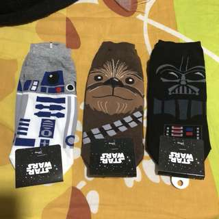 Made in Korea SET OF 3 Star Wars Ankle Socks FREE POSTAGE