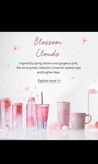 Starbucks spring blossom/Sakura Collection 2018