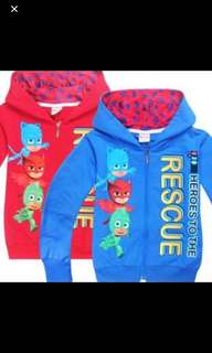 Instock pj mask jackets brand new limited stock blue-120cm and red -110/120cm