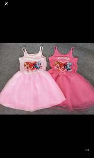 Instock now limited Stock !! Paw patrol party/events dress brand new size 100-120cm light pink And 110/140 dark pink