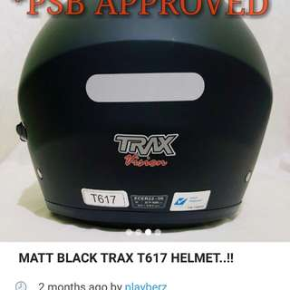 Trax matt black psb approved