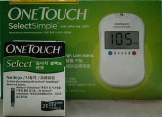 glucometer - ONE TOUCH SELECT SIMPLE