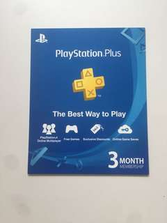 Sony Playstation Plus Local 3 Months membership for PS4