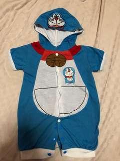 Doraemon with hat romper