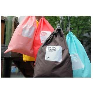 Travel Packing Organizer Bags Lightweight Packing Draw String Bag 4 pcs Set