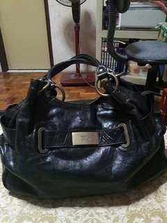 Ssamzie Genuine Quality Leather Black Satchel Bag
