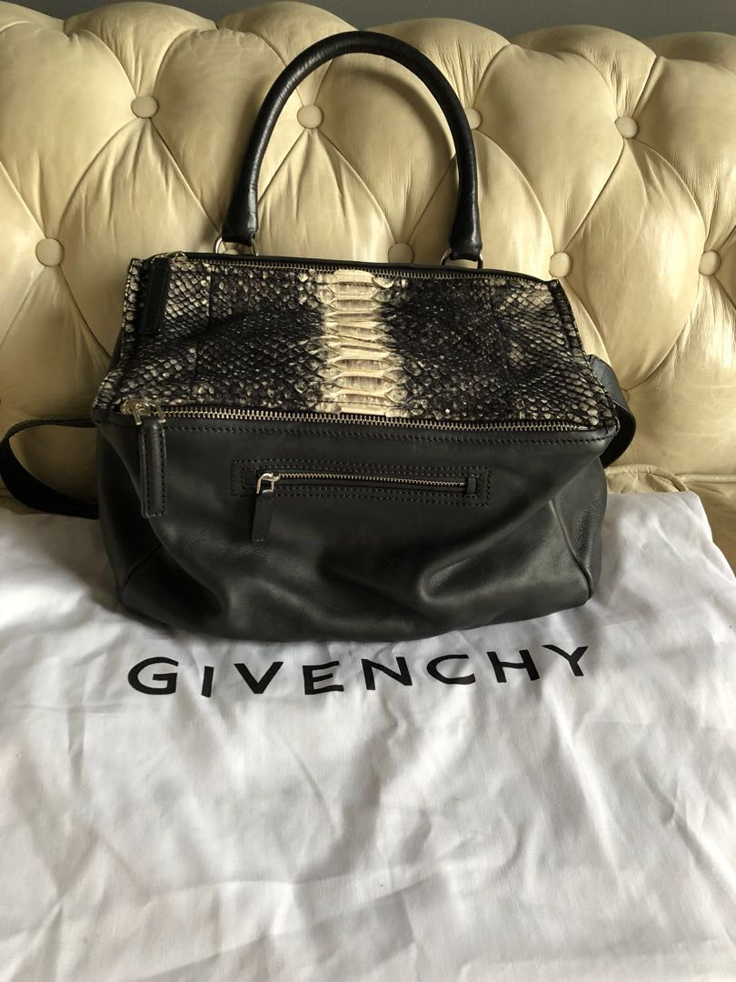 20e16facd3c 💯 Authentic Givenchy - Pandora in Python leather medium sling bag.  Clearance. All must go, Luxury, Bags & Wallets on Carousell