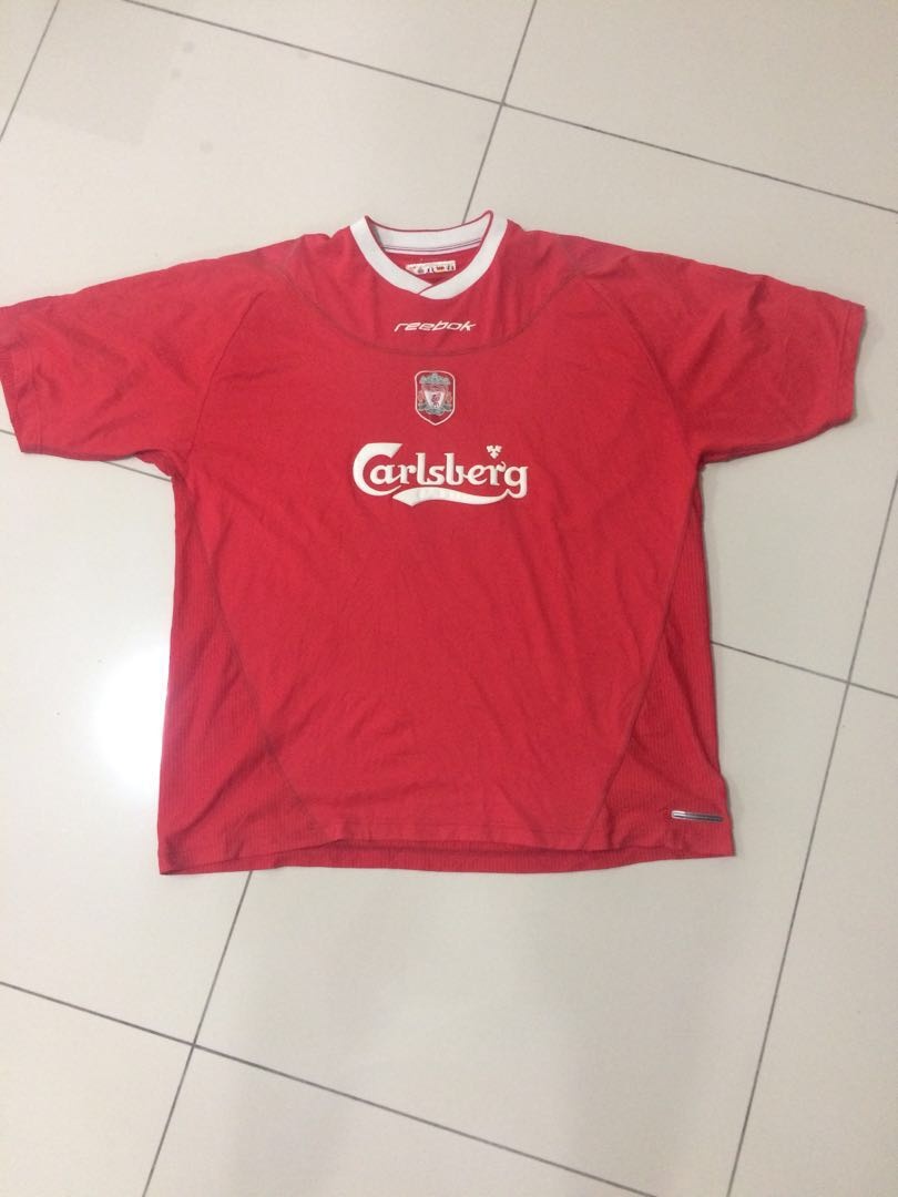 best service b18ea 234c0 Authentic Liverpool 2002-2004 Home Jersey
