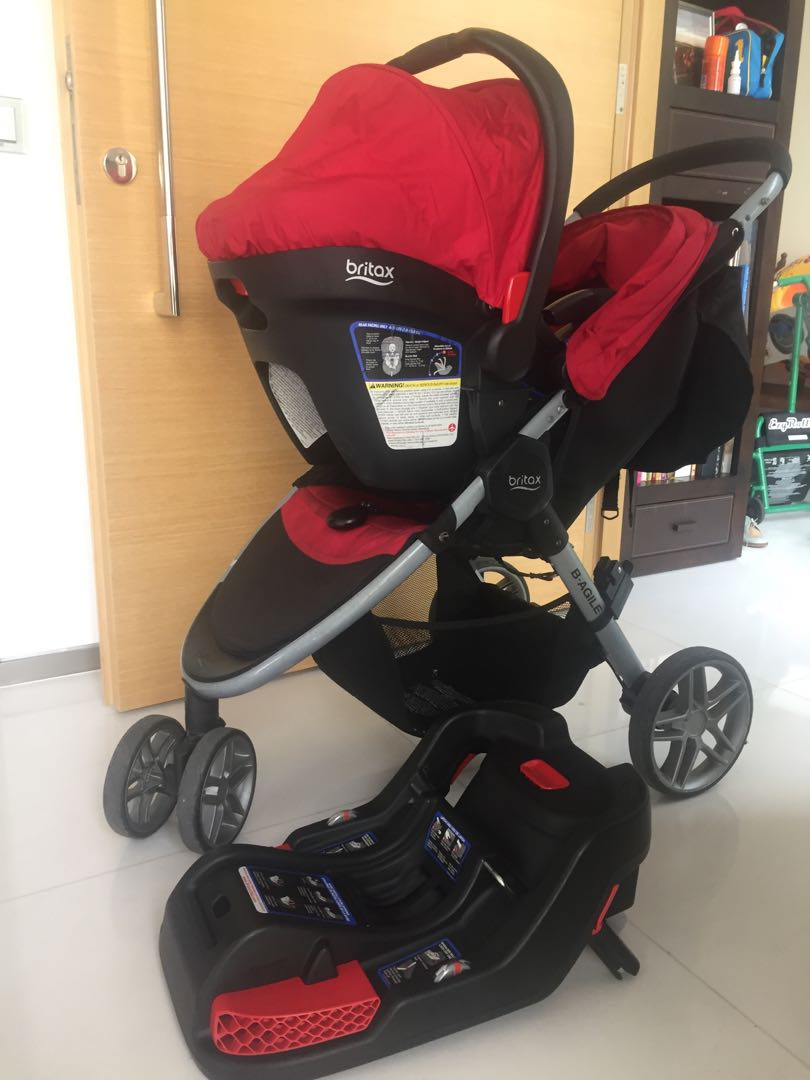 Baby Stroller With Car Seat And Toddler Skateboard