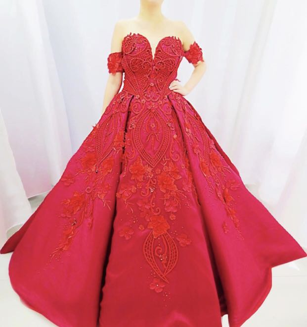Ball gown for debut, prom, prenup, wedding, Women\'s Fashion, Clothes ...