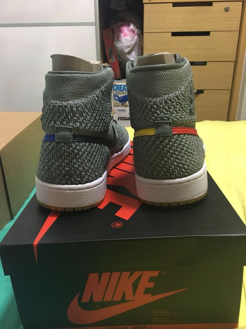 new style 76400 db9d5 BNIB Nike Air Jordan 1 Retro High Flyknit, Men s Fashion, Footwear on  Carousell