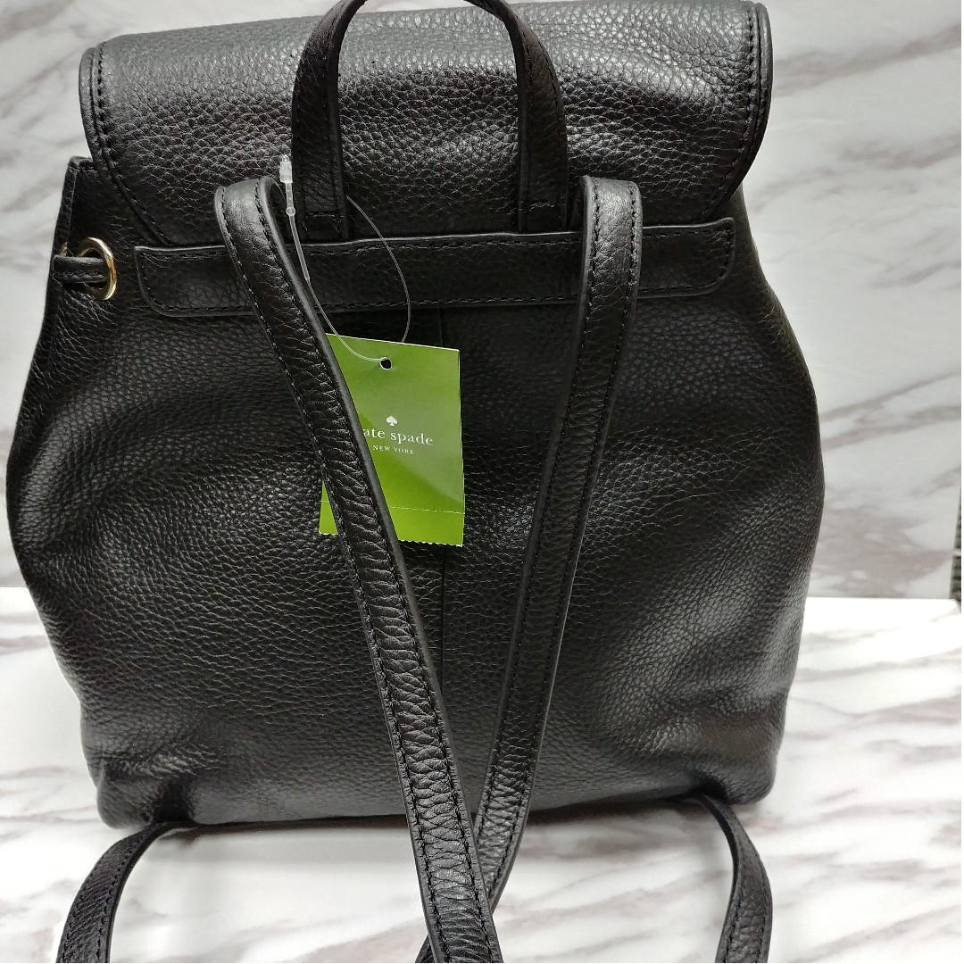 327fddf365 Kate Spade Mulberry Street Small Breezy Backpack Black Leather Bag ...