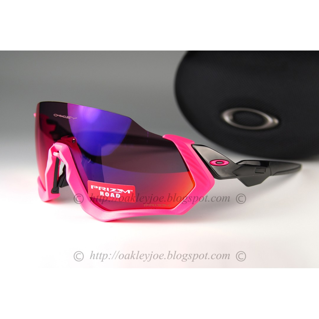 069f49c5ed Brand New Oakley Flight Jacket neon pink + prizm road oo9401-0637 ...