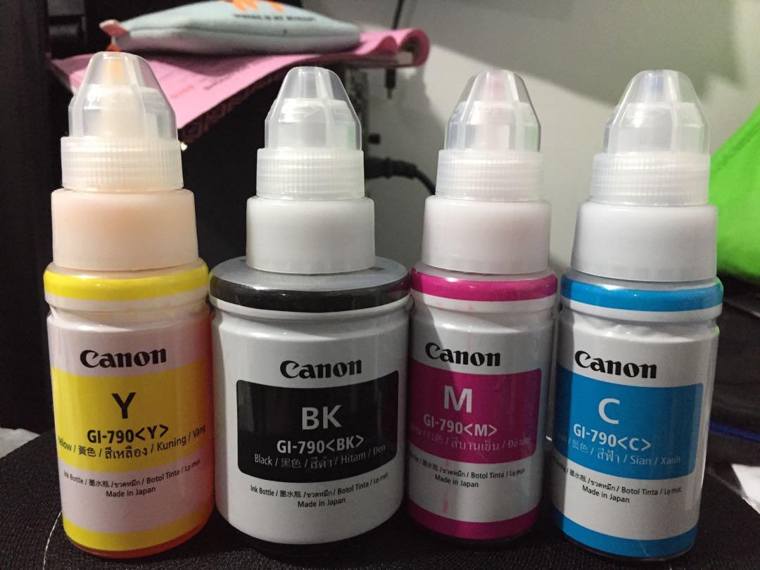 Canon Original Tinta Botol Gi 790 Black Daftar Harga Terlengkap Pigment Ultimate Plus Uv G1000 G2000 G2003 G3000 Yellow 70 Ml