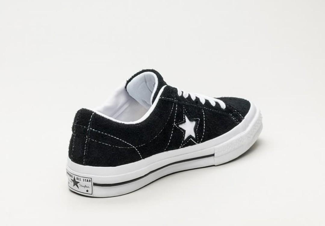 8aadf731422 CONVERSE ONE STAR OX SUEDE BLACK
