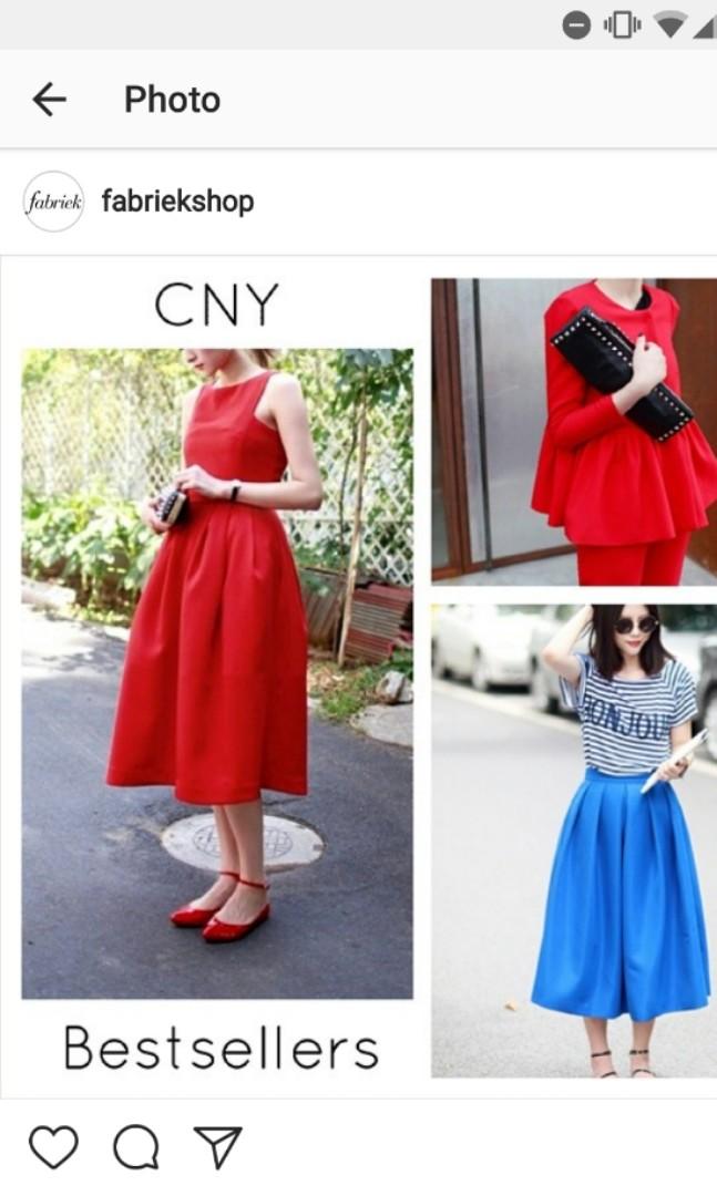 6640b2a91 Fabriek red flare dress