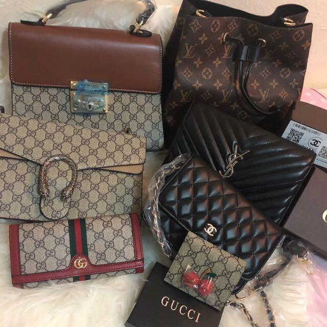 Gucci YSL, Chanel,LV