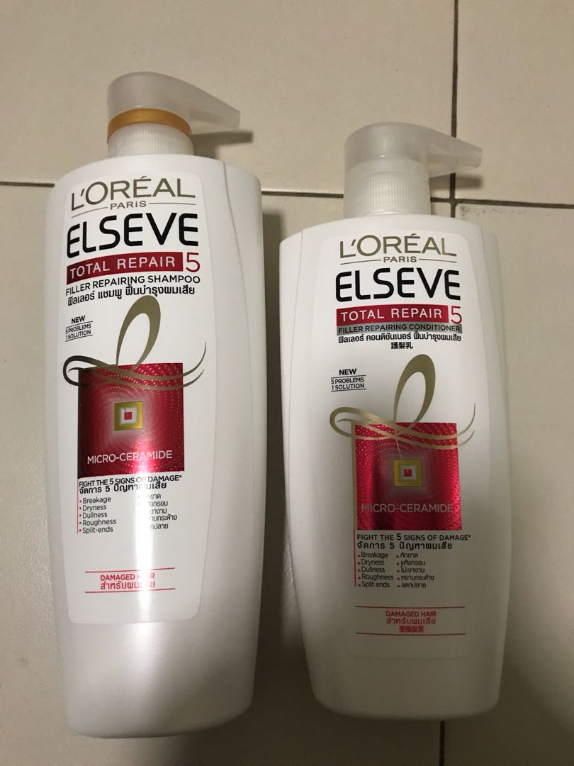 Loreal Total Repair Shampoo And Conditioner Health Beauty Hair Fall Photo