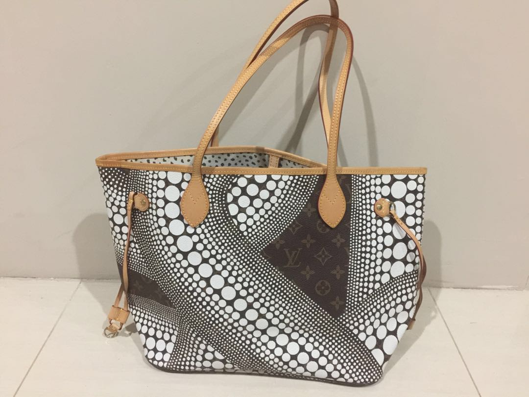 LV Louis Vuitton Neverfull bag Yayoi Kusama. Mirror quality. Like ... 9aedb2c783