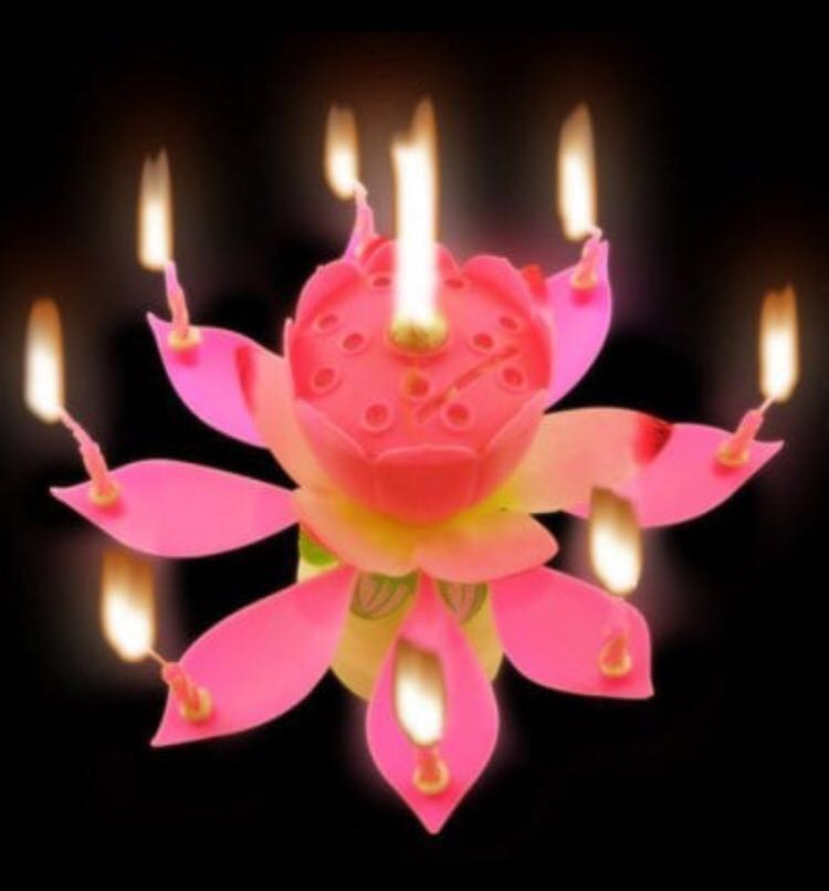 Magical Lotus Flower Birthday Candle