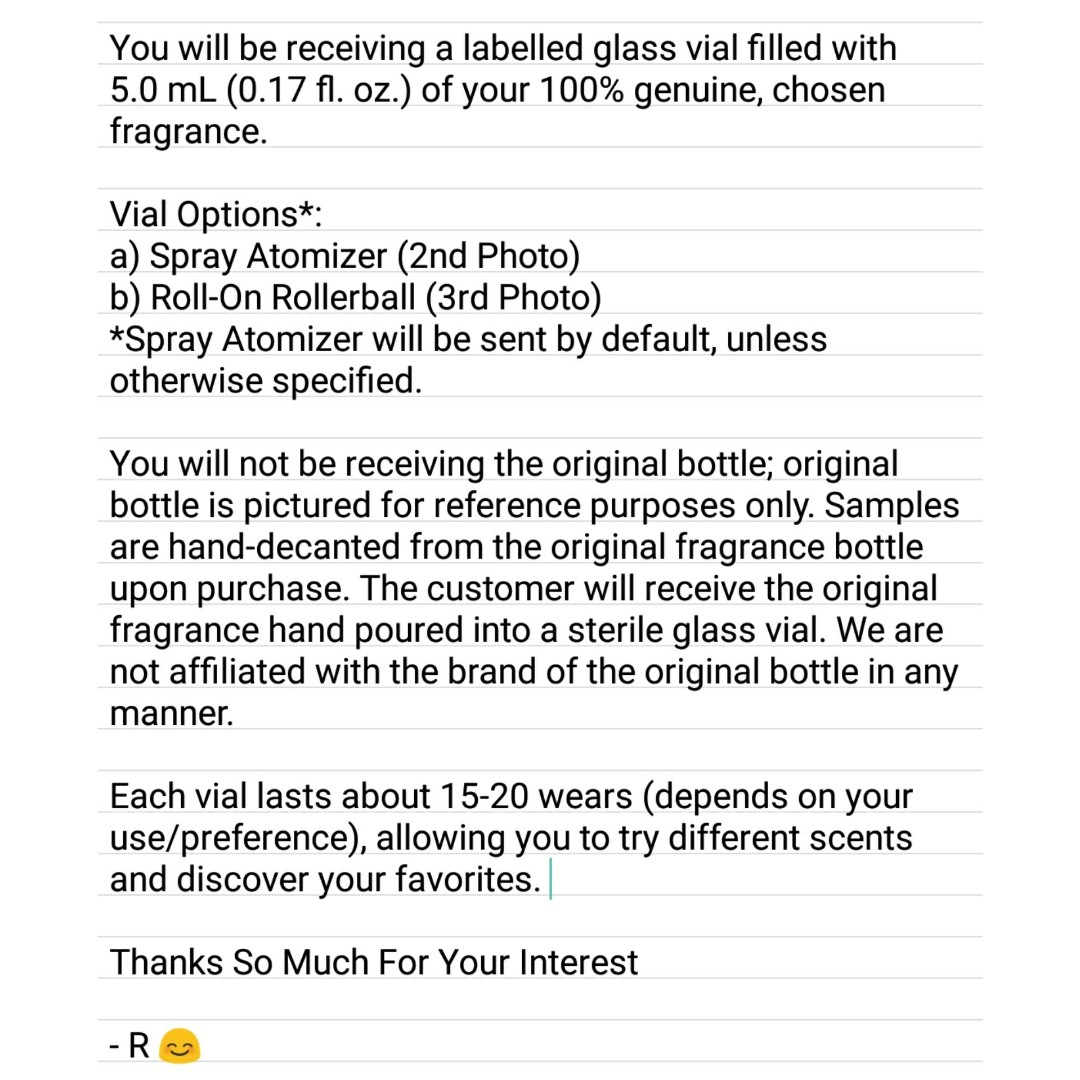Marc Jacobs Daisy Eau So Fresh 5mL EDT Sample Travel Spray Atomizer or Roll-On Rollerball Vial
