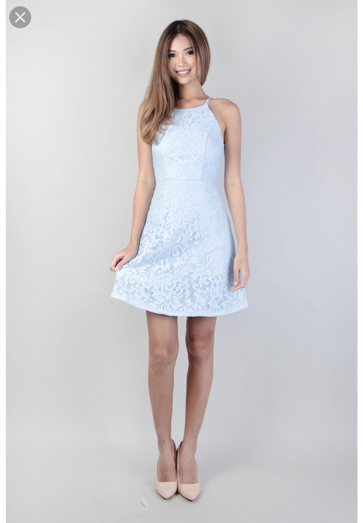 Powder Blue Lace Dress