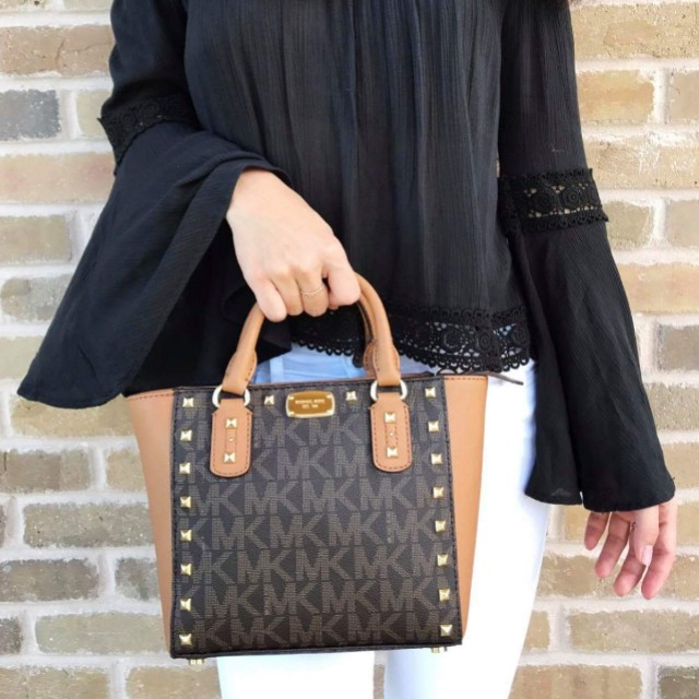 enjoy cheap price search for clearance sold worldwide Michael Kors Sandrine Stud Small Crossbody on Carousell