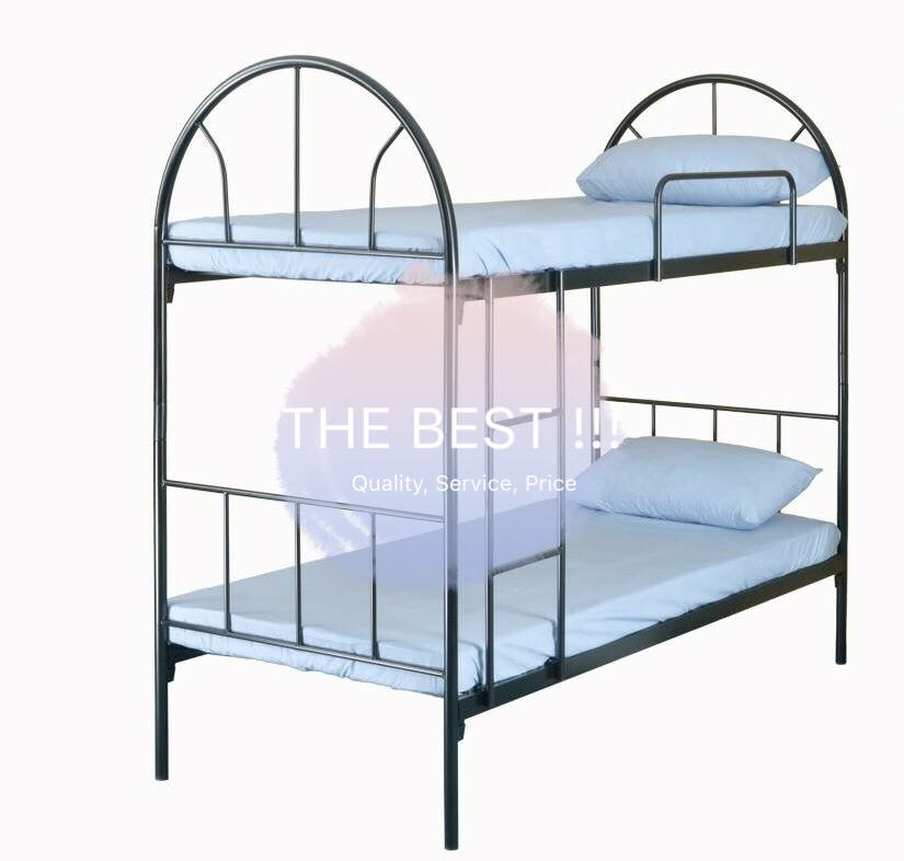 New Commercial Warehouse Dormitory Steel Double Decker Bed Frame ...