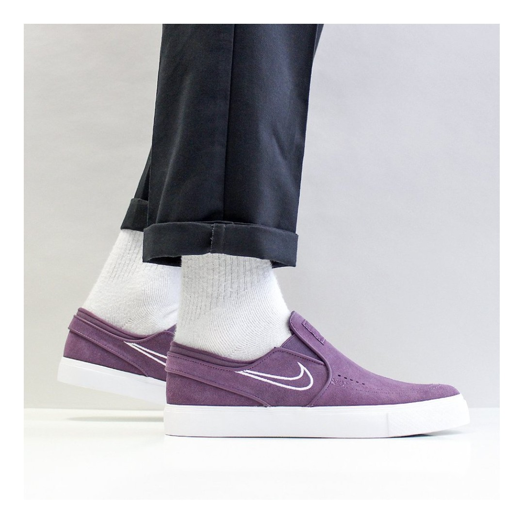 79eededfa63 NIKE SB ZOOM STEFAN JANOSKI SLIP ON SHOES – PRO PURPLE WHITE BARELY ...