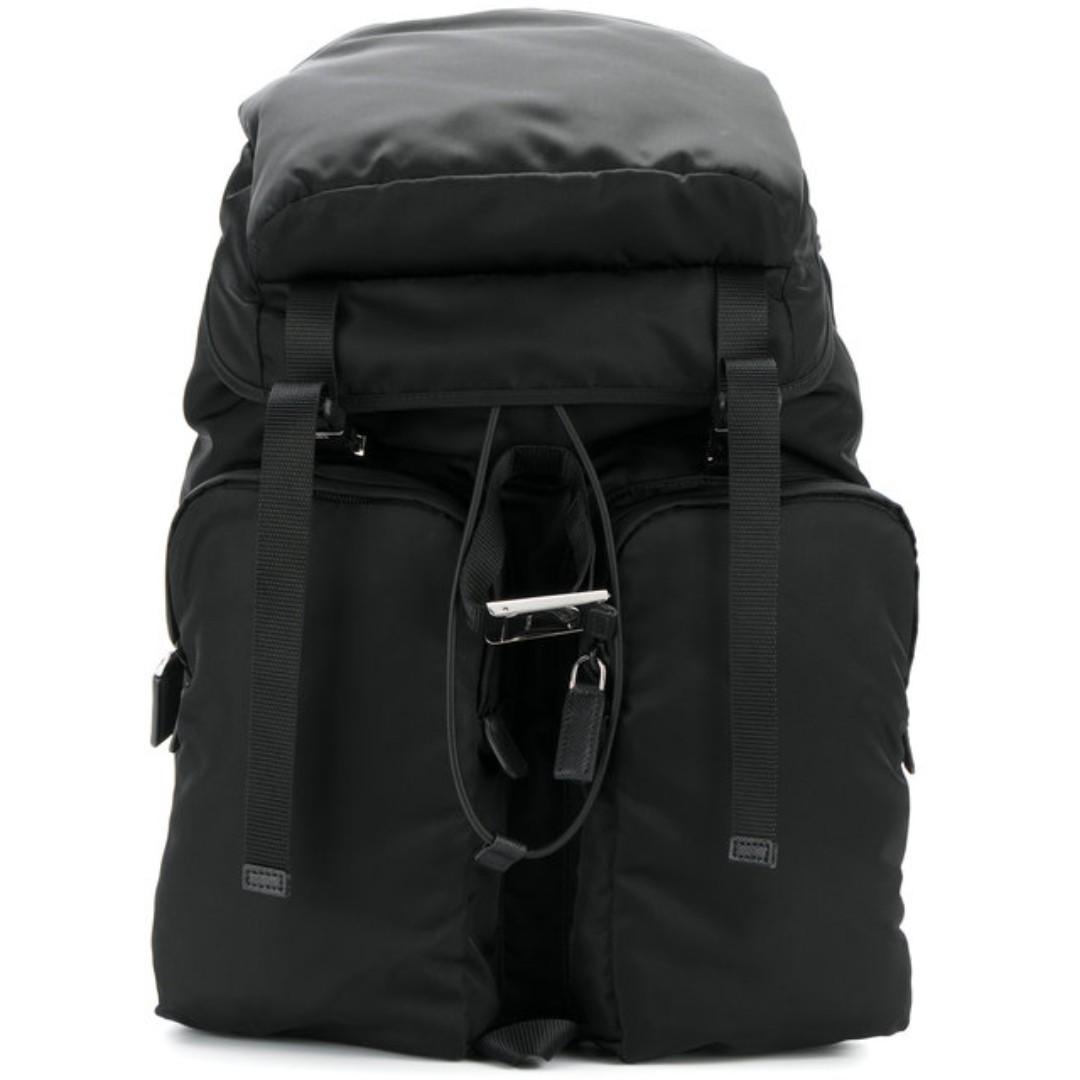 71f0de30be5b Prada Nylon   Saffiano leather backpack