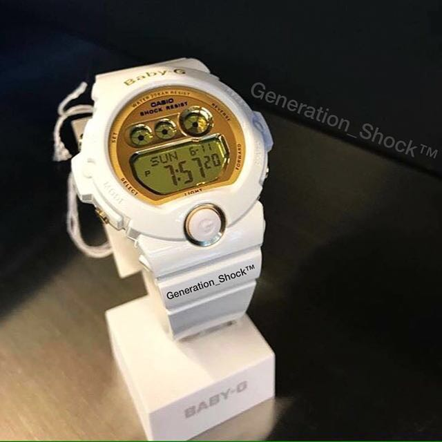 3ef813a5f191 ... ORIGINAL BABY-G-SHOCK RESISTANT WATCHES in SNOW-WHITE GLOSSY Gold  ABSOLUTELY TOUGHNESS in Best Gift For Most Rough Users BG-6901-7 ✅ BA-110    BA-110GA ...
