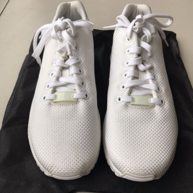 competitive price 350bc 8e314  REPRICED  All White Adidas ZX Flux, Women s Fashion, Shoes on Carousell