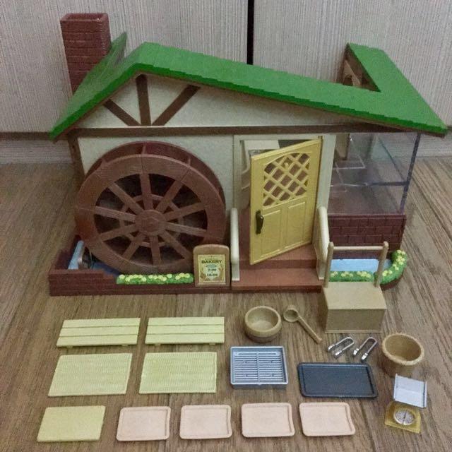 Sylvanian Family Rare Windmill Bakery Toys Games Bricks