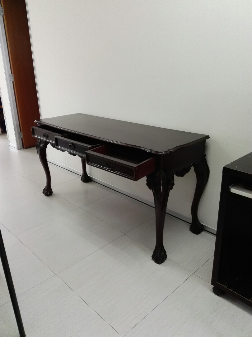 Vintage Oriental Western Craw Legs Console Table With 3 Drawers Offer