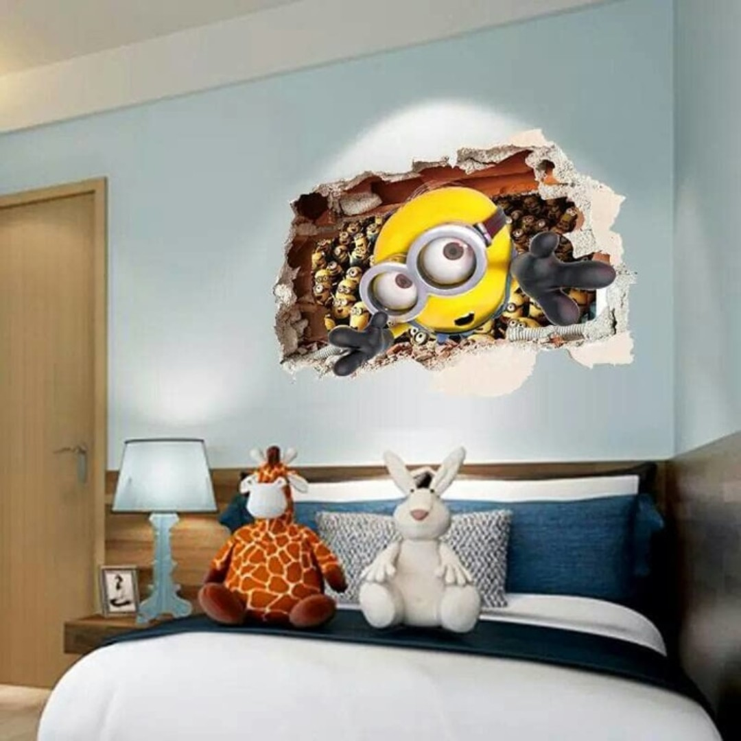 Wallpaper Sticker Dekorasi Dinding Minion Despicable Me