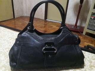 RENOMA Genuine Leather Black Satchel Bag