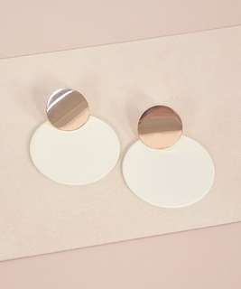 Ari Circle Colourblock Earrings