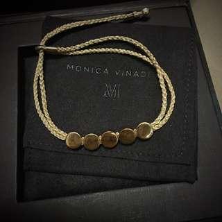 全新 Monica Vinader linear bead friendship bracelet 玫瑰金手繩 Thomas sabo tiffany Cartier links of Linder les neriedes