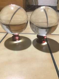 🚚 大顆水晶玻璃球買一送一