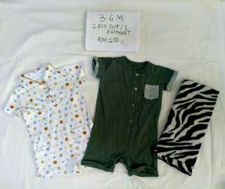 Suit rompers combo 3-6months