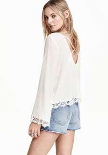 H&M Coachella Bohemian long sleeves top