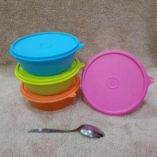 Tupperware preloved modular bowl 600ml