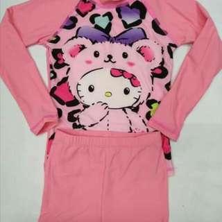 WL: Hello Kitty Rashguard Set For Girls (1-10 Yrs. Old)